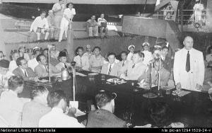 Perundingan di atas kapal USS Renville